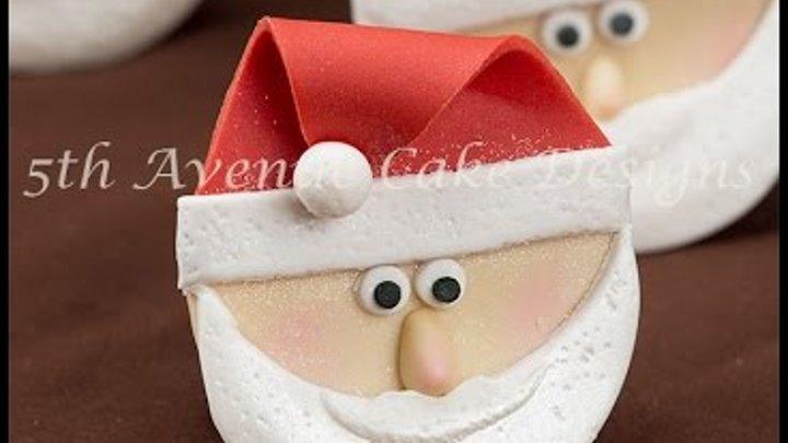 How to Model 3-D fondant Santa Claus Cupcakes