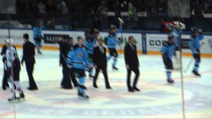 КХЛ 2014-2015/ Плей-офф / Восток / 1/2 финала / Матч 5 / Сибирь - Металлург Мг - 3 - 1. Аншлаг.
