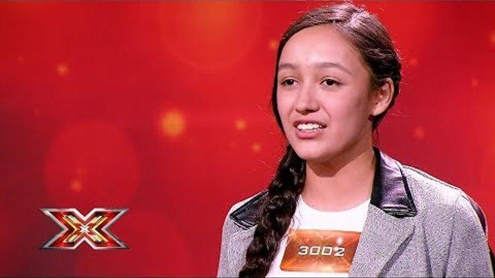 Дильнура Биржанова. X Factor Казахстан. Прослушивания. 7 сезон. Эпизод 2.