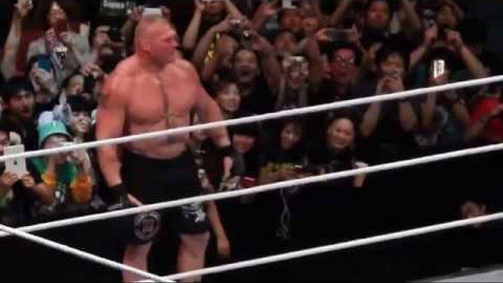 WWE Japan tour 2015 Brock Lesnar VS Kofi Kingston