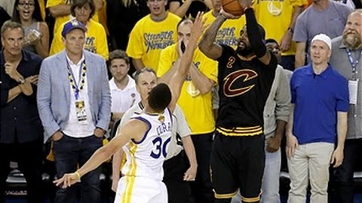 Kyrie Irving Drains the Clutch Three in Game 7 of the 2016 NBA Finals