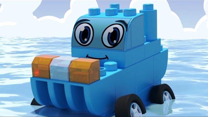 ЧиЧиЛенд - Корабль 🚗🚜⛴ Машины-трансформеры из лего - Мультфильмы