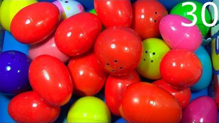 30 surprise eggs! Disney CARS MARVEL SpiderMan THOMAS SpongeBob HELLO KITTY Kinder ANGRY BIRDS