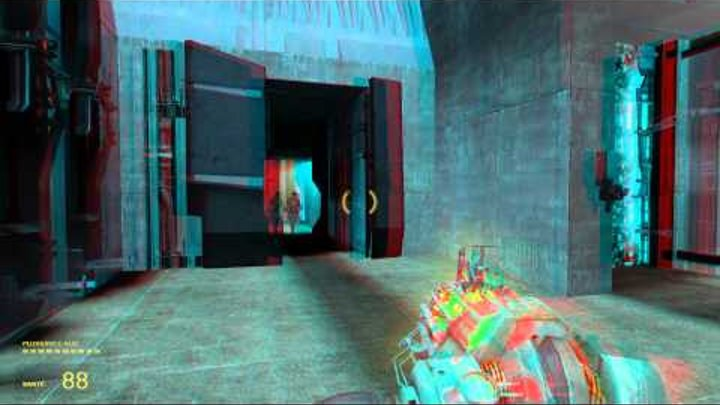 Half life 2 Episode 1 Complete part.1 in 3D Anaglyph