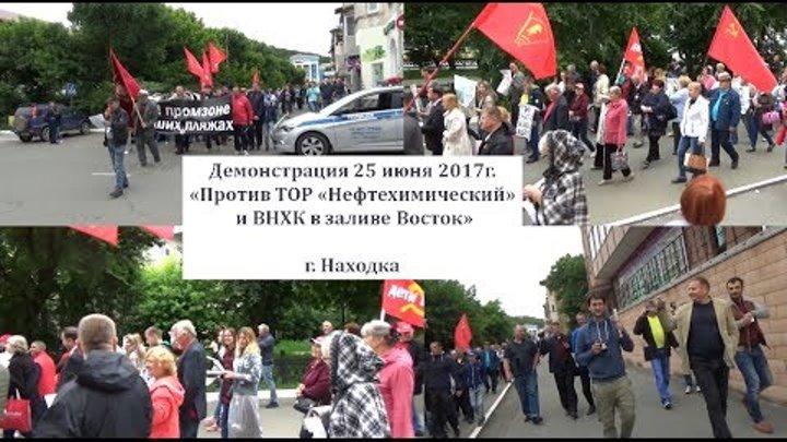 25/06/17 Демонстрация против ТОР и ВНХК г.Находка