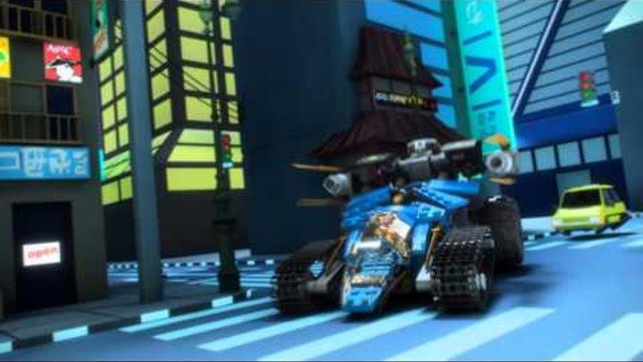 """LEGO Ninjago - 70723 Внедорожник """"Молния"""" и Робот Земли"""