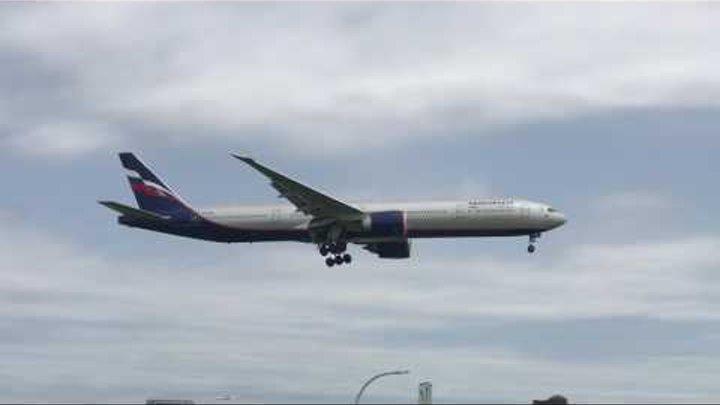 Посадка Москва (Шереметьево) - Нью-Йорк (JFK) Боинг 777 (Аэрофлот)