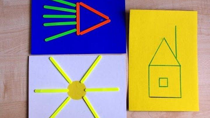 Развивающие занятия для детей 2-3 лет со счетными палочками. Игры без игрушек.