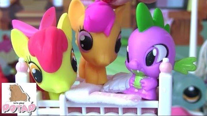 Пижамная Вечеринка Эппл Блум. Май Литл Пони Мультик Игрушки для Девочек от Calico Critters
