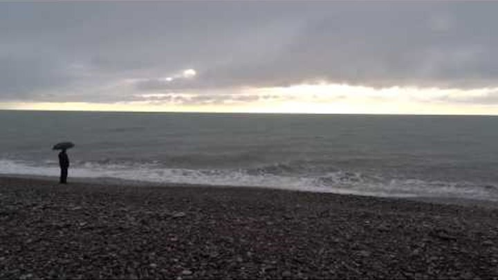 Дни зимнего солнцестояния. Короткий, дождливый день у моря. Лазаревское, Сочи 21 декабря 2016