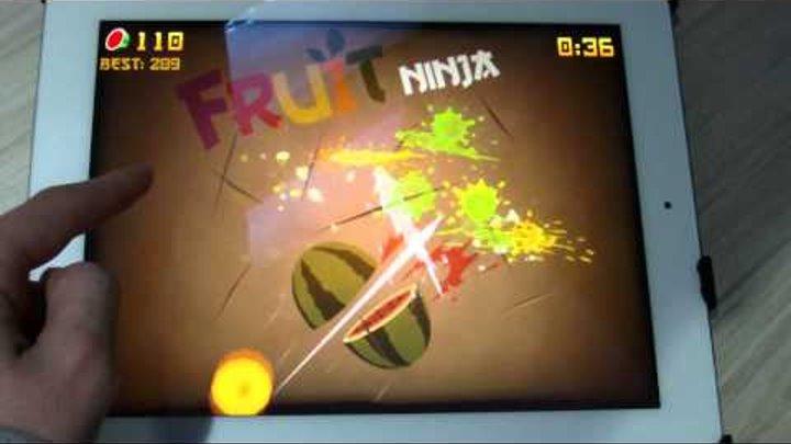 iPad 3 Gameplay - Fruit Ninja