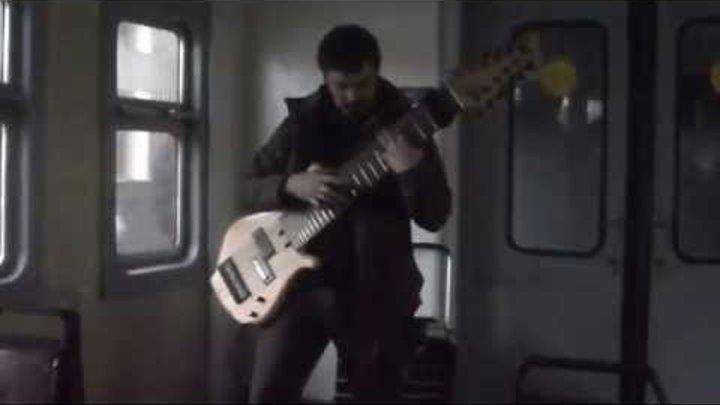 Шикараная игра на самодельной 12 струнной гитаре 01 02 2015