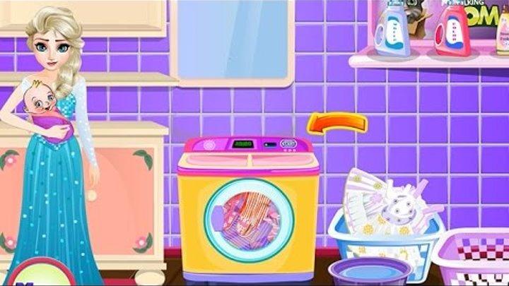 NEW Игры для детей 2015—Disney Принцесса Эльза уборка—Мультик Онлайн Видео Игры для девочек