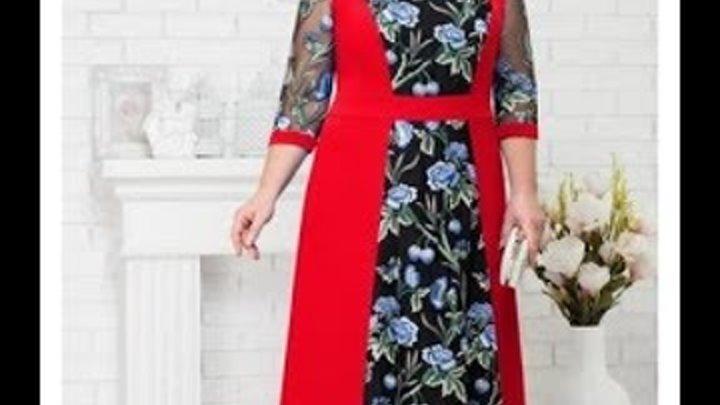 Праздничные платья из трикотажа белорусского - красивые модели на фото