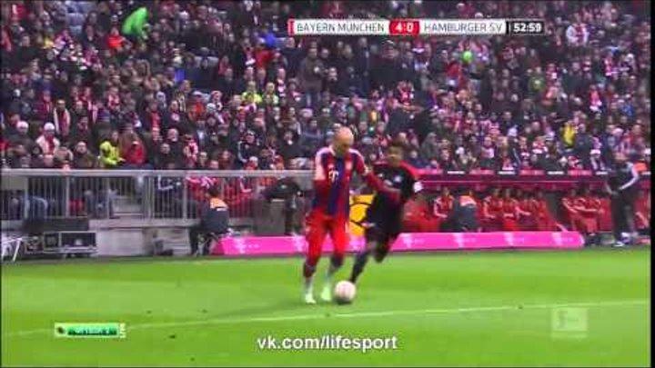Бавария 8 0 Гамбург Немецкая Бундеслига 2015