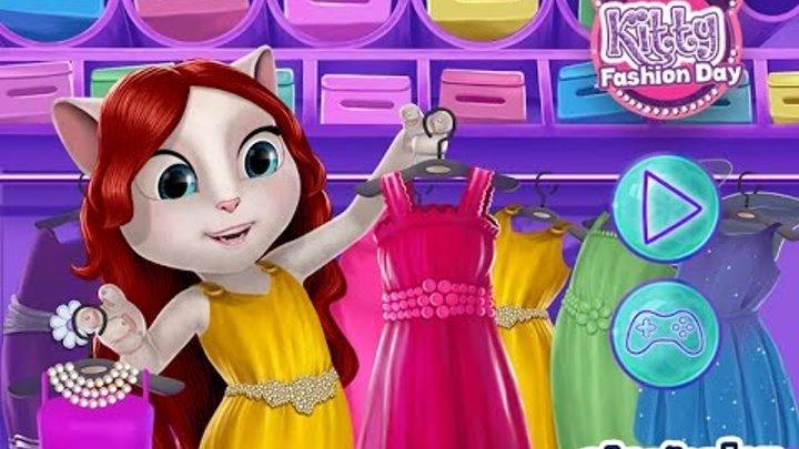 NEW мультики для девочек про принцесс—Одеваем с Максом принцессу Китти—Игры для детей/ Kitty Fashion