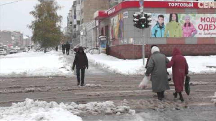 Новости от Спутник-ТВ, про снег + обращение начальника отдела ГИБДД по Белебеевскому району