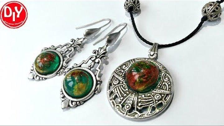Украшение из эпоксидной смолы/jewelry made of epoxy resin