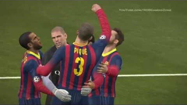 Penalty shootout BARCELONA vs REAL MADRID 2013 - PES 2014