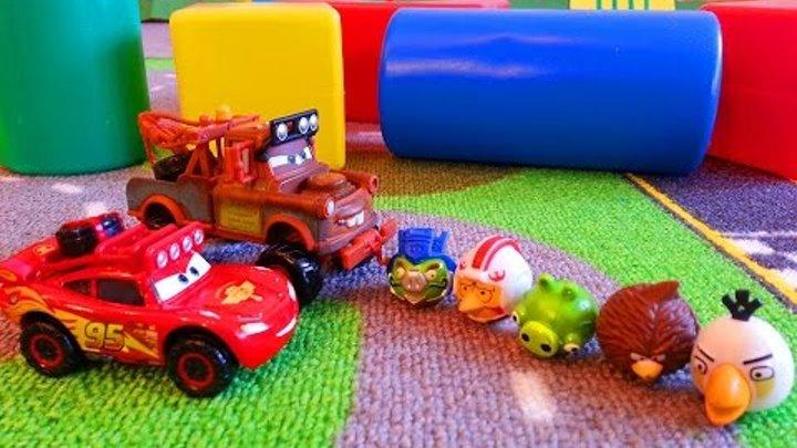 Тачки Энгри Бердз Маквин и Мэтр Мультики про машинки McQueen Cars Angry Birds