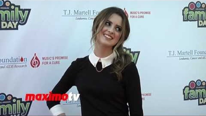 """Laura Marano at T.J. Martell's 5th Annual """"Family Day LA"""" Red Carpet - Austin & Ally"""