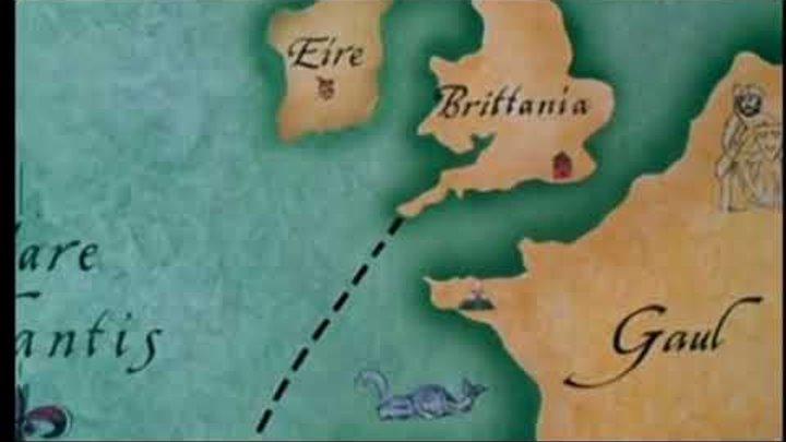 Робин гуд и мужчины в трико Поплыл в Англию из Африки