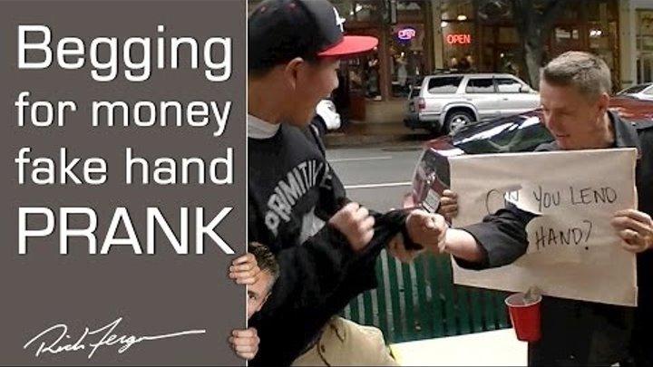 Scare Prank: Homeless Prankster Surprise