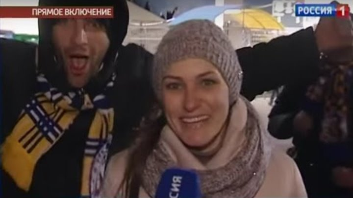 """Матч """"Ростов"""" - """"Бавария"""". Прямое включение в конце первого тайма"""