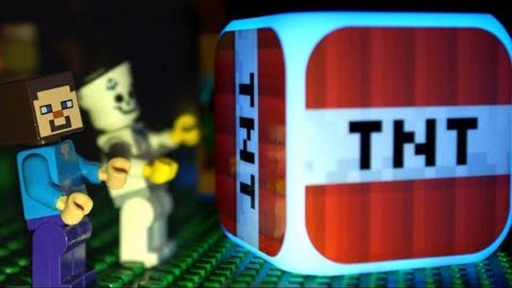 ЛЕГО НУБик против ТНТ Лаки Блоки Майнкрафт Мультики LEGO Minecraft Игрушки и Мультфильмы