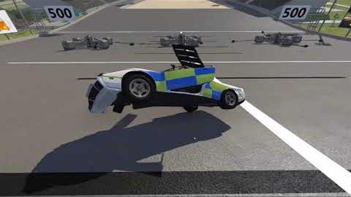 Игры гонки как мультики про машинки Прыгнул с трамплина и разбился Прыжки с горы на машине