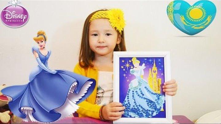 Золушка картина из пайеток Набор для творчества Disney принцесса