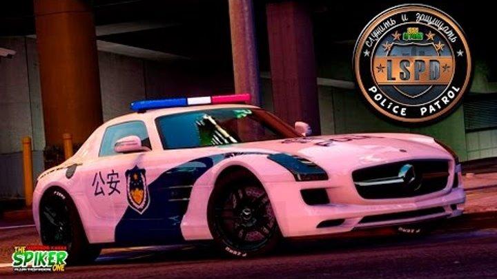 GTA 5 Полицейский патруль :Mercedes-Benz. Угон танка. Перестрелки. #45