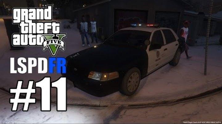 GTA 5 LSPDFR #11 - Зимний патруль в ГЕТТО (Полицейский мод)