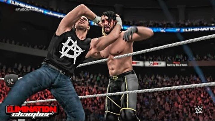 WWE Elimination Chamber 2015 - Seth Rollins vs Dean Ambrose WWE World Heavyweight Championship Match