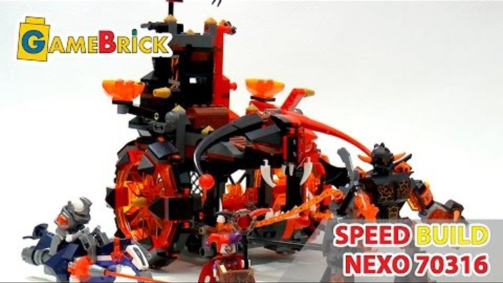 LEGO Nexo Knights Jestro's Evil Mobile speed build review! set 70316