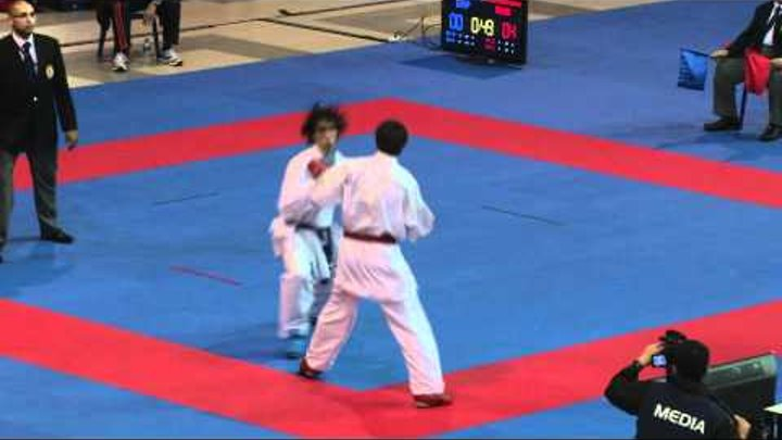 2011 WKF 7th Junior World Championship Junior Male -68 Kg Kumite Bronze Medal Spain vs Russia.mp4