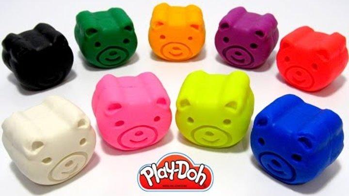 Играем и учим цвета на английском языке с мишками из пластилина Play-Doh.