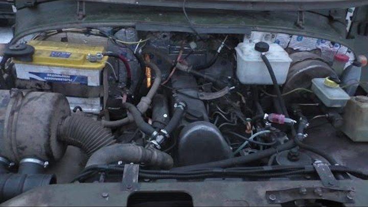 УазТех: Установка om617 Турбодизель, на УАЗ 469 с КПП и РК Nissan Patrol, ЧАСТЬ 2