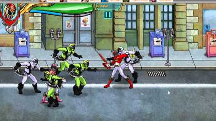 Игра могучие рейнджеры самураи (Мегафорс)