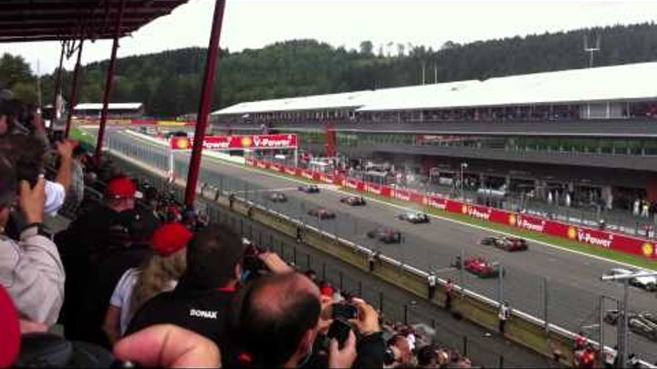 Formula 1 Spa Belgian GP 2011 Start Gold 1 Grandstand
