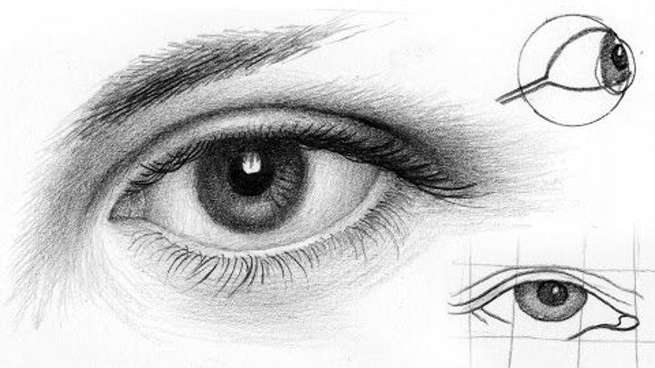 Рисовать глаз карандашом