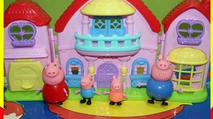 Свинка Пеппа. Домик свинки Пеппы #1.Обзор игрушек Peppa Pig.