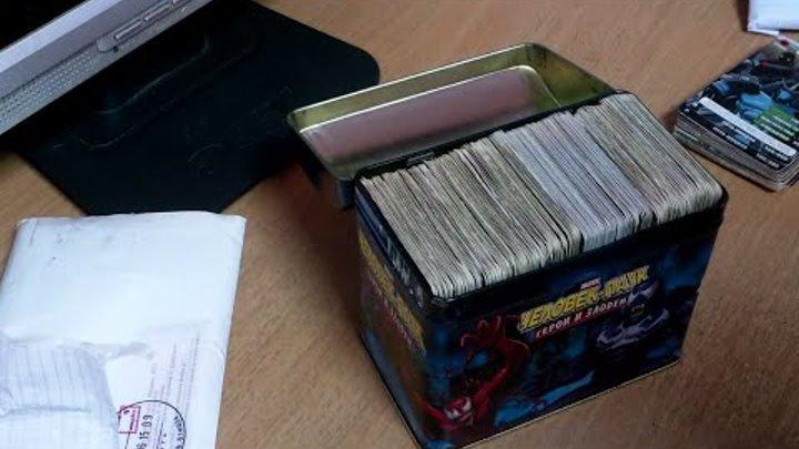"""Карточки """"Человек-паук: герои и злодеи"""" и """"Черепашки ниндзя: боевая четверка"""""""