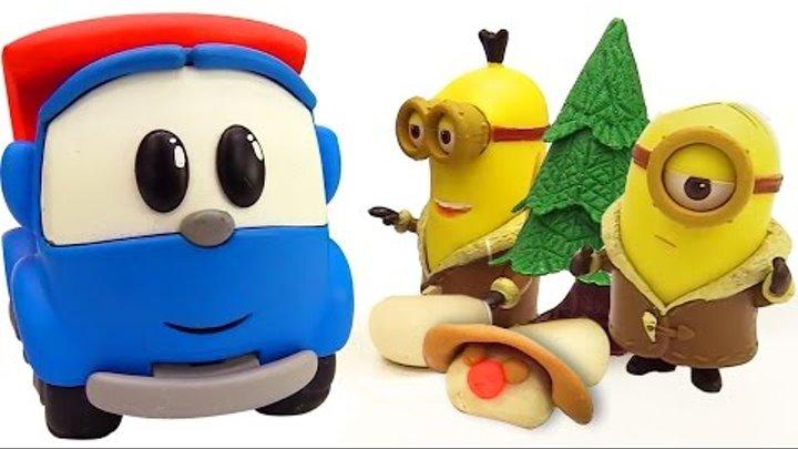 Грузовичок Лева , видео с игрушками! Герои мультфильмов! Лева раздавил снеговика!