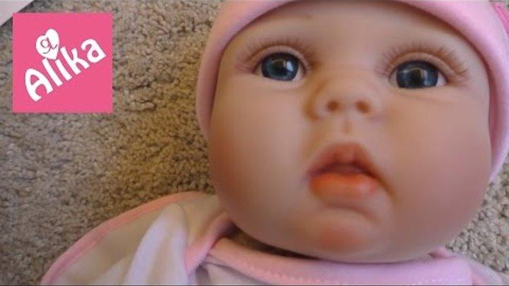 РЕБЕНОК В ПОСЫЛКЕ!!! Кукла РЕБОРН как живая Алика МАМА новорожденного ребенка Reborn Doll