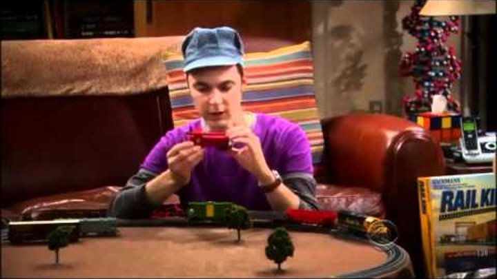 Sheldon Playing With His Train Set - The Big Bang Theory