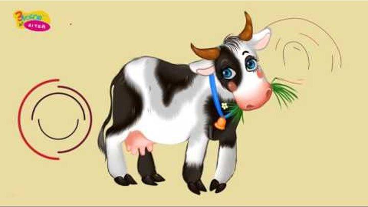 Хто що їсть. Як говорять домашні тварини. Розвиваюче відео для дітей українською