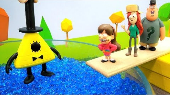 Видео с игрушками, мультик ГРАВИТИ ФОЛЗ и проделки Билла Шифра! Диппер и его друзья-ЗОМБИ 🧟
