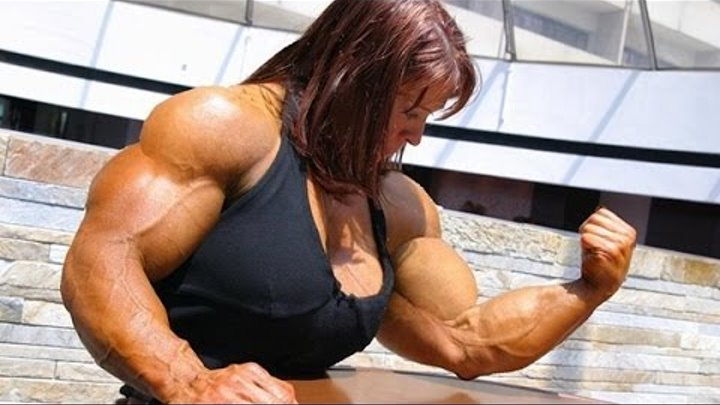 мускулистая бодибилдерша видео смотреть