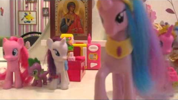 маленькие пони игрушки:прогулка пони в кафэ